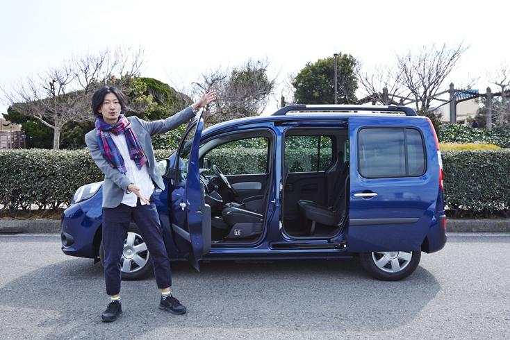 部員たちを海に連れ出してくれるのはルノー・ジャポン株式会社の『ルノー カングー』。両側スライドドアで、都心のせまい駐車場でだってスピーディに乗り降りできる。