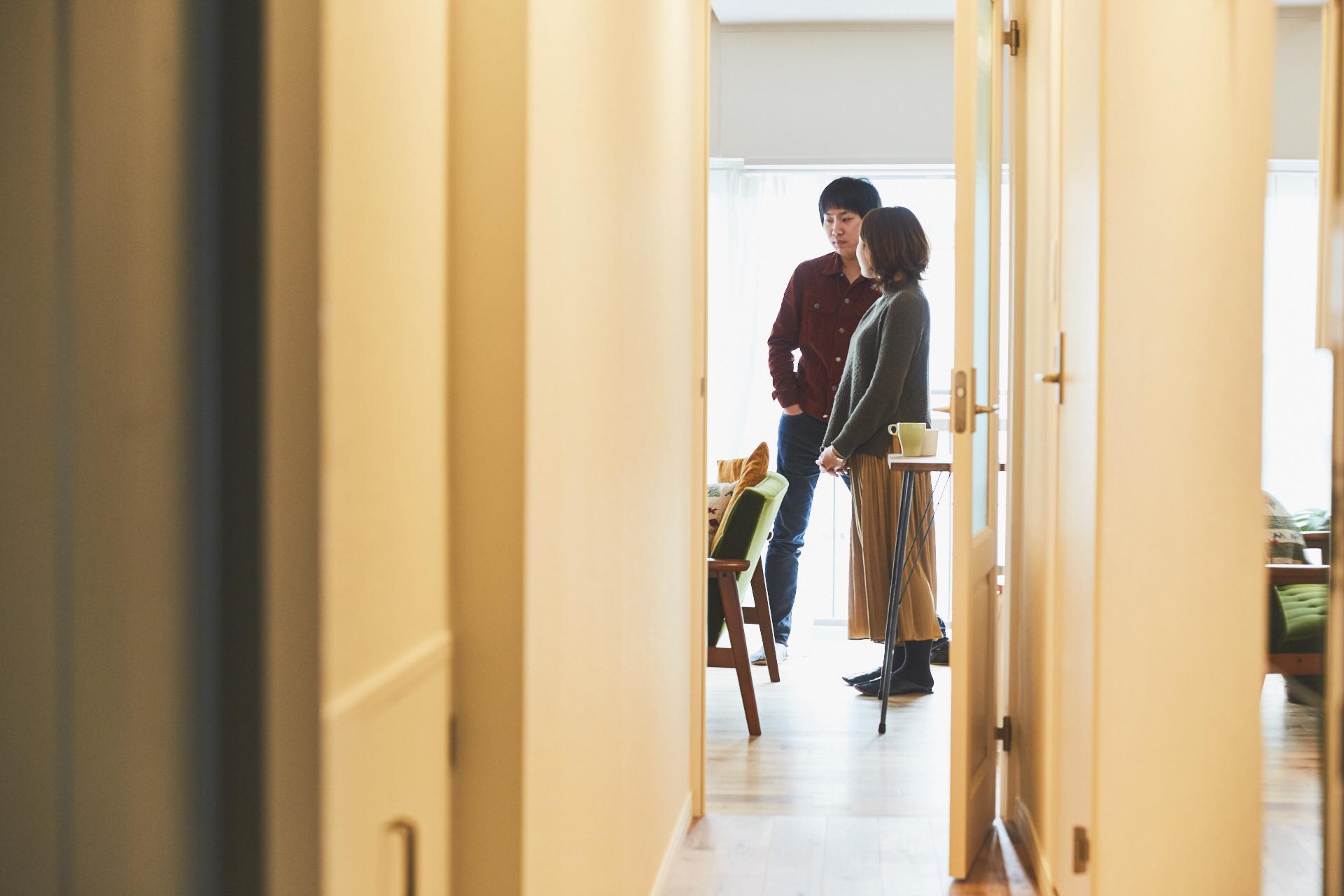 同棲部屋の廊下