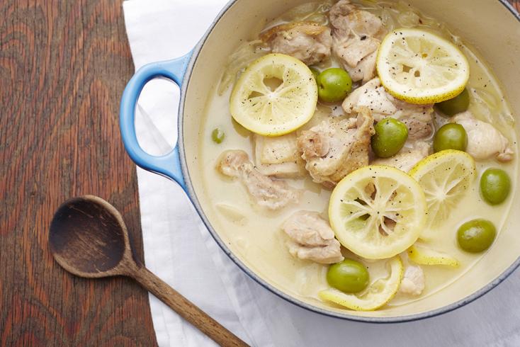 レシピ「鶏のレモンオリーブ煮」