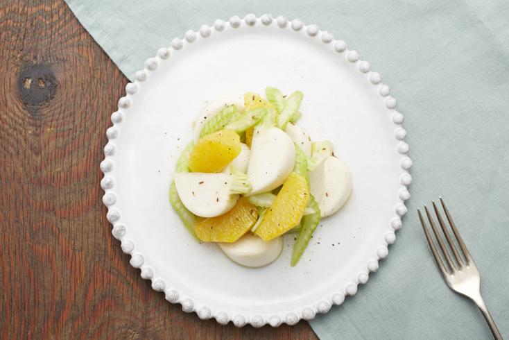 レシピ「かぶとセロリ、オレンジのマリネ」