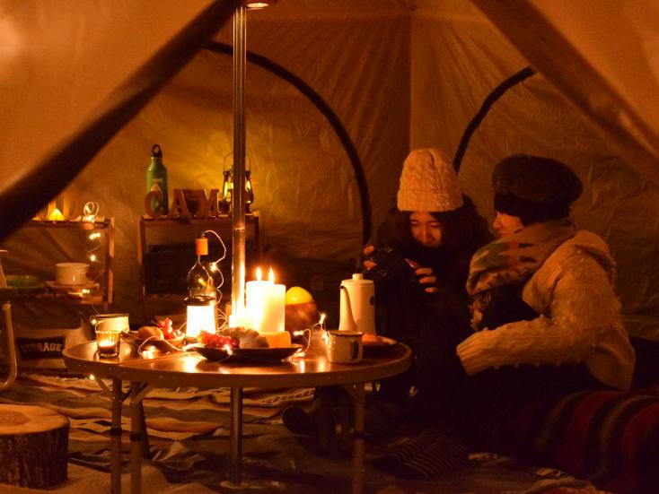 アウトドアが楽しくなる広いテント