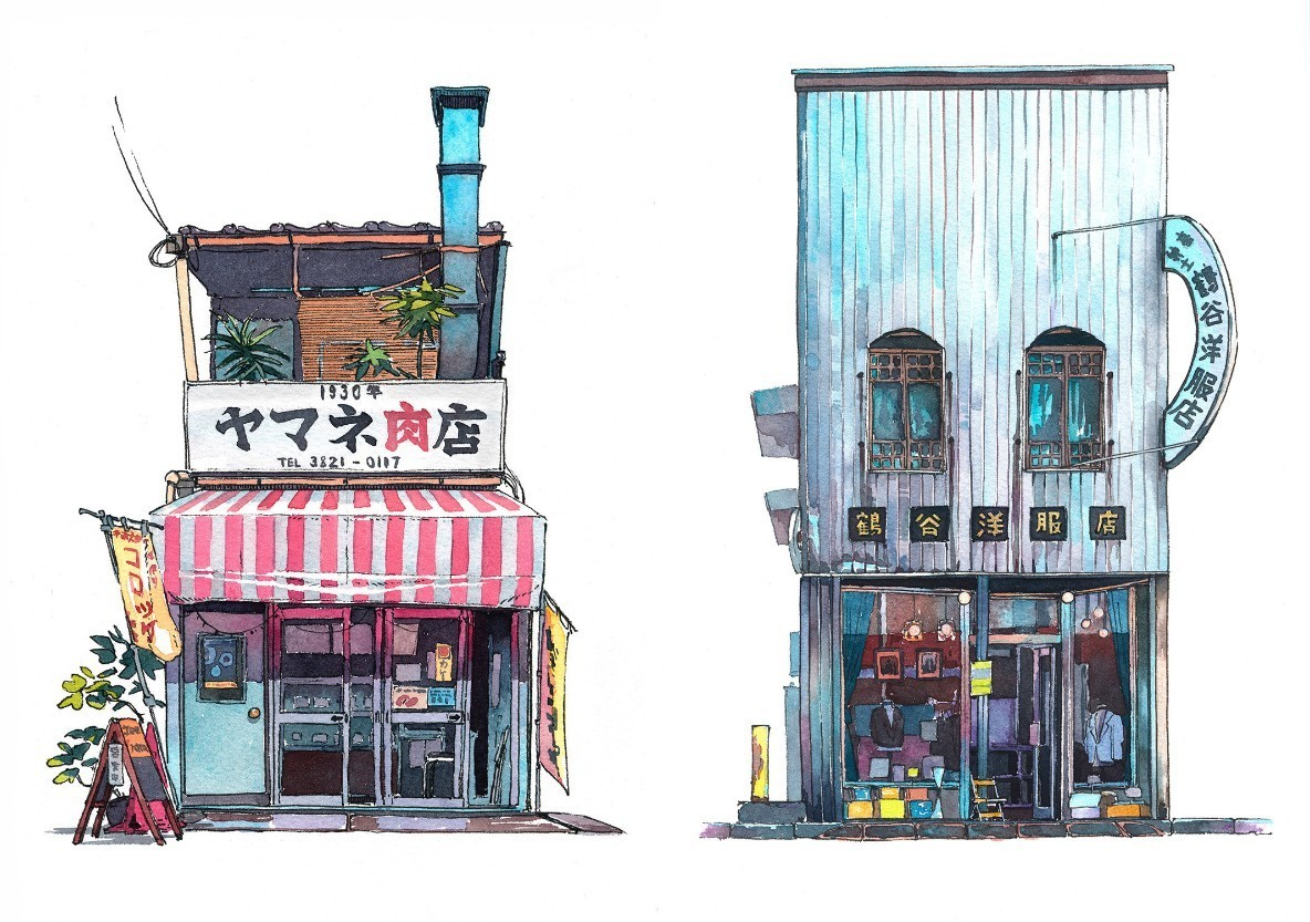 『君の名は。』背景スタッフが日本の日常的な風景を描く「東京店舗シリーズ」