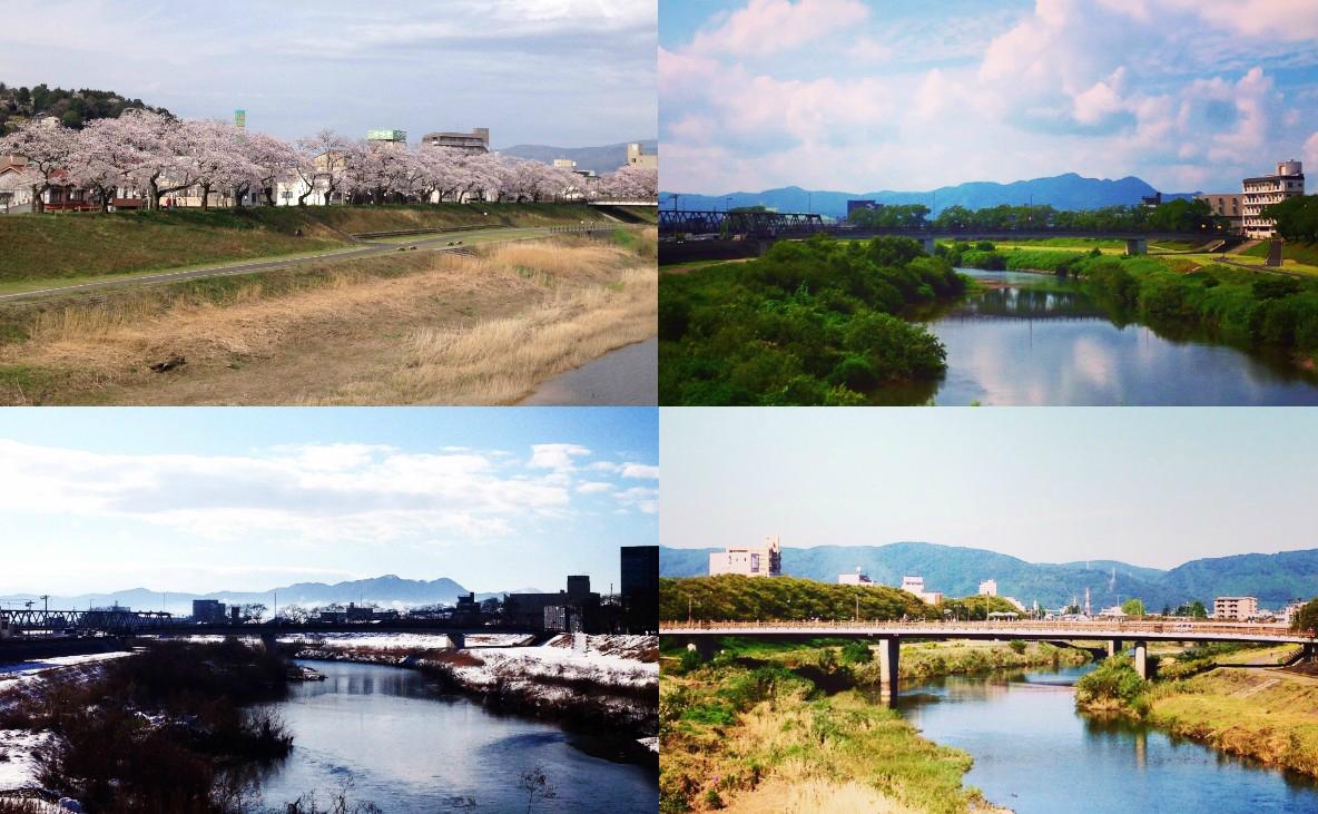 福井駅から少し歩けば、中心部を流れる足羽川や小高い足羽山など、自然の水や緑がすぐそばにあるのも魅力