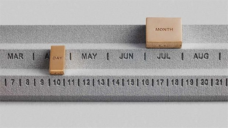 コンパクトな卓上カレンダー「Perpetuum Calender」の紹介