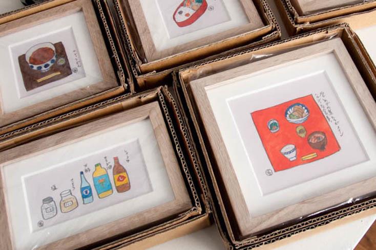 イラストレーター・大橋歩さんが描いた「食べる」にまつわる絵