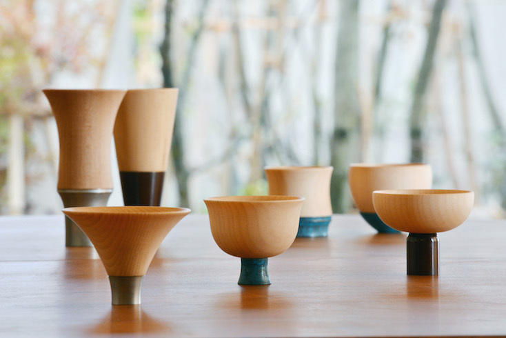 kisenの商品はこのぐい呑みを含め、金属加工、銅着色、そしてろくろなどのそれぞれの分野の職人の熟練の技術の共演で製作されている