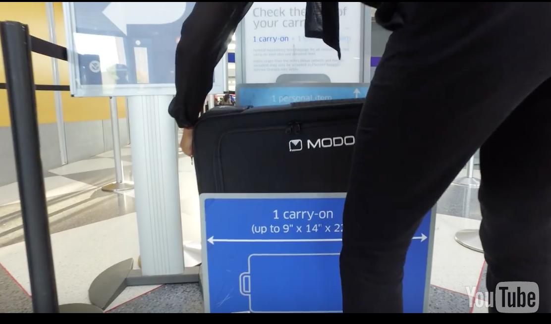 乗ると移動できるスーツケースModobag