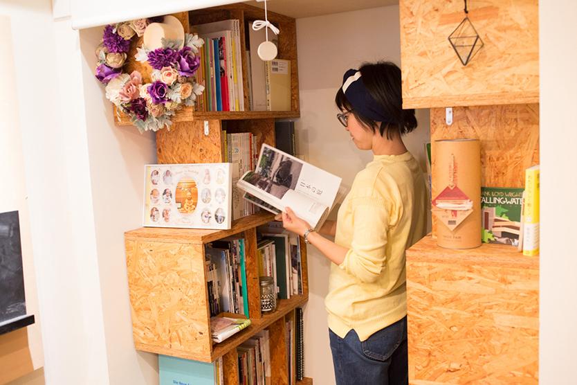 DIYした本棚