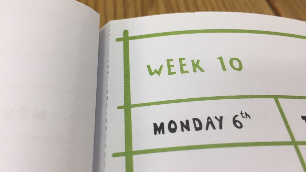 フライングタイガーの「ウィークリーカレンダー」のマイ定番スタイル
