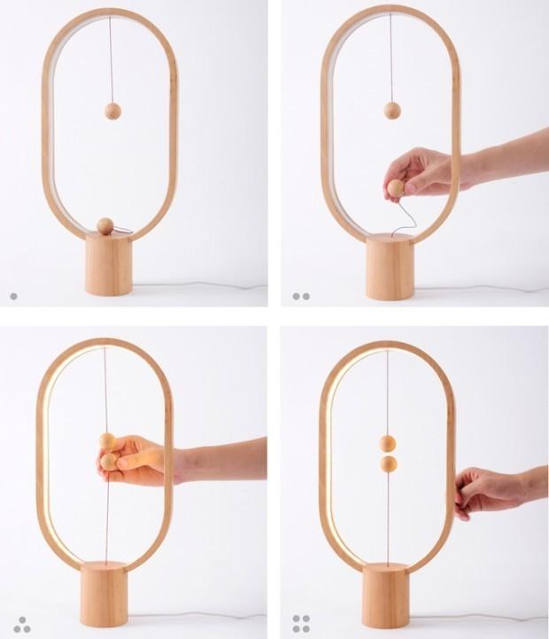 点灯方法が独特なデザインの「Heng Balance Lamp」の紹介