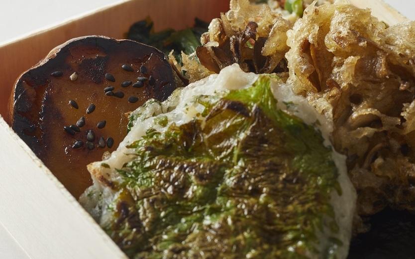 れんこん、舞茸、豆腐のハンバーグ… 優しい味わいの『海苔弁 畑』