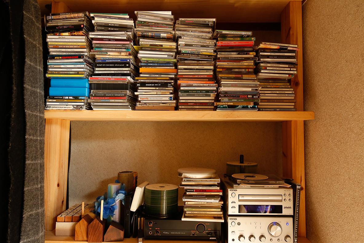 たくさんのCDを収納