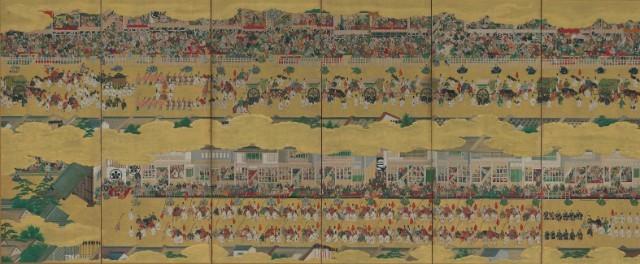 《二条城行幸図屏風》(左隻)江戸時代・17世紀 泉屋博古館蔵