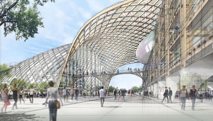 スイス時計会社本社(スイス、ビール/ビエンヌ/進行中)設計:坂茂建築設計