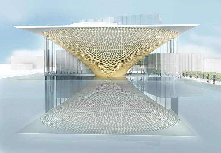 富士山世界遺産センター、設計:坂茂建築設計