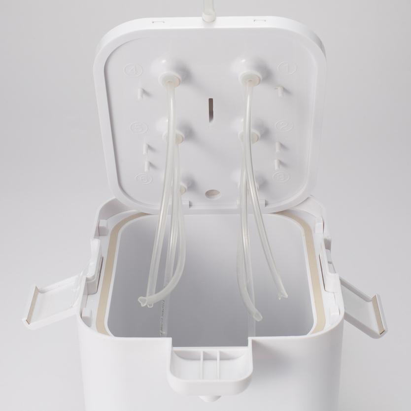 本体ユニットと中ブタが丸洗い可能なので、衛生的なところもうれしい
