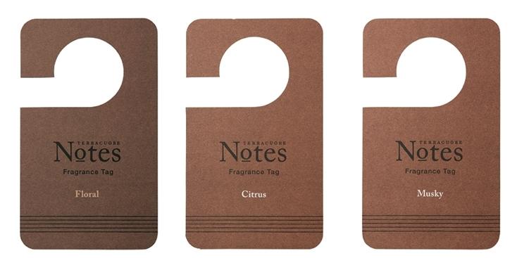 TERRACUORE Notesのクロゼットに掛けるフレグランスタグ