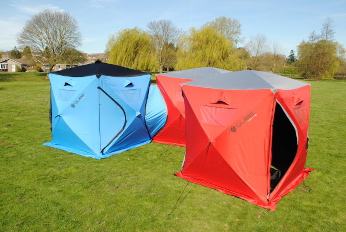 テント同士を繋げて拡張も可能。キャンプで活躍するボックス型テント