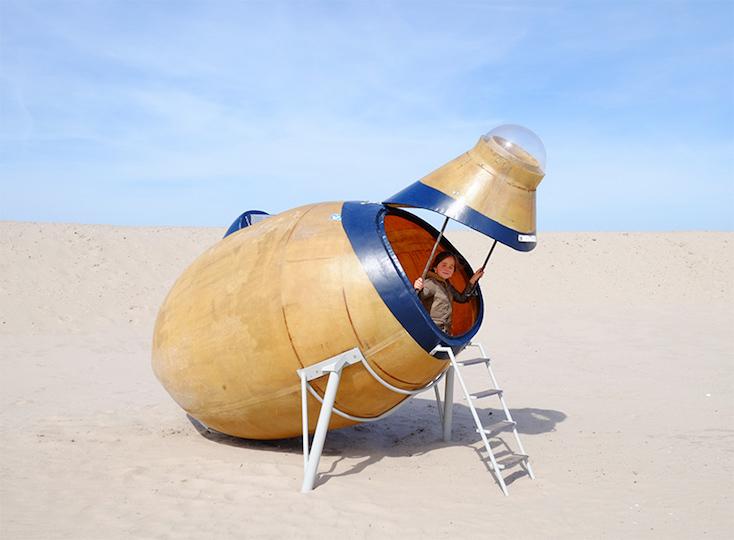 砂漠に泊まるシェルタープロジェクトのval ross