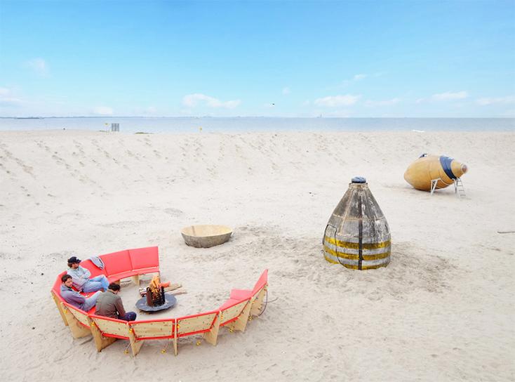 砂漠に泊まるシェルタープロジェクトurban campsite amsterdam