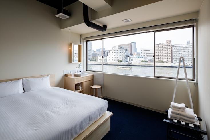 清澄白河のホテルの綺麗な部屋