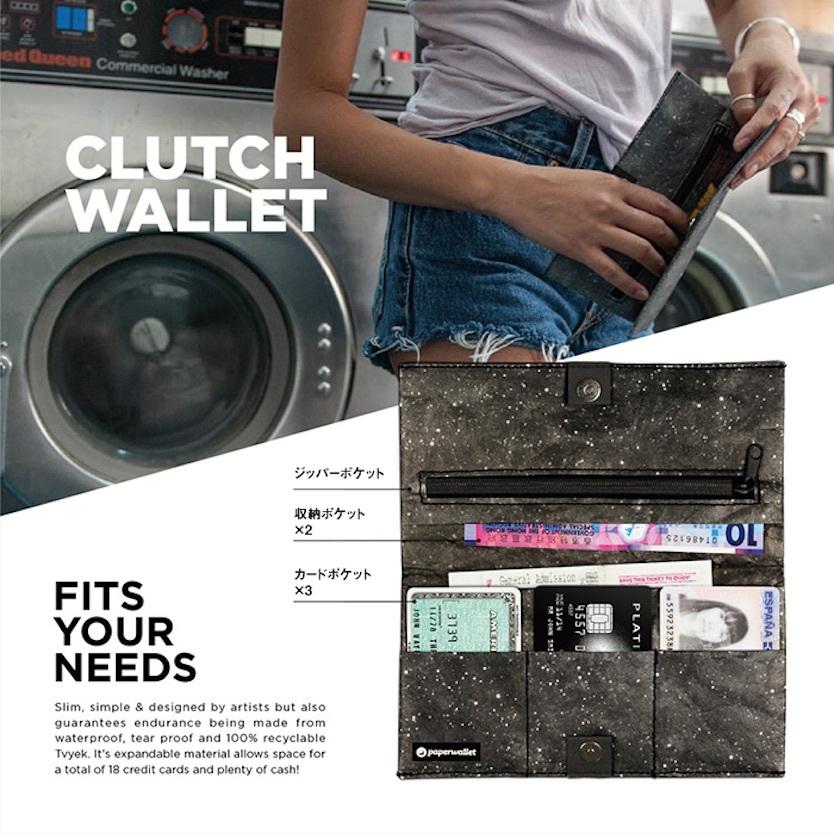 長財布サイズの「CLUTCH WALLET」