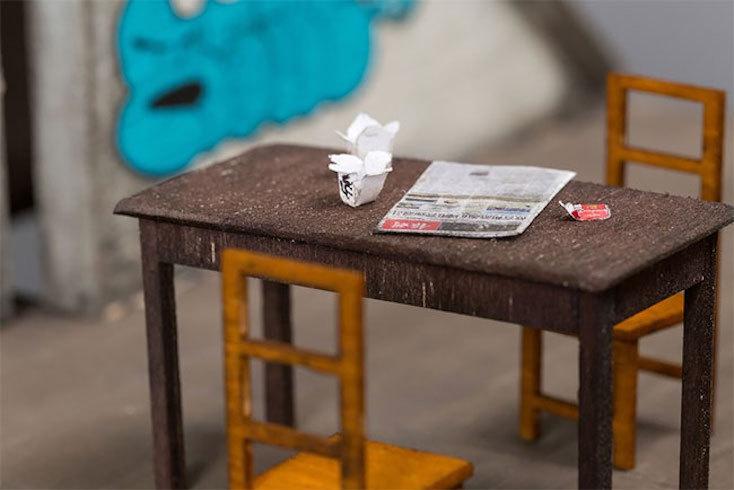 ミニチュアの中にある家具や小物まで忠実に再現