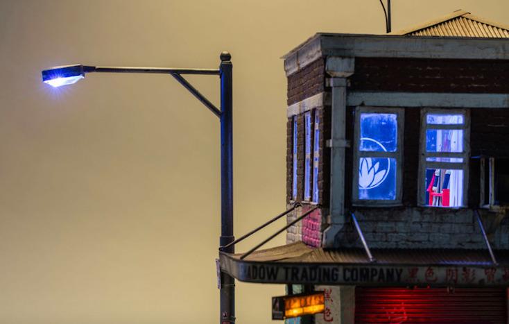 ニューヨークの建物らしく煉瓦造りでありながらも、中国らしく漢字などが所々に施されている