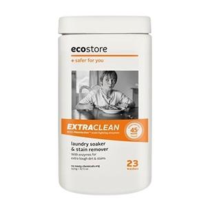 エコでパッケージがかわいい洗剤エクストラクリーン ソーク&ウォッシュパウダー