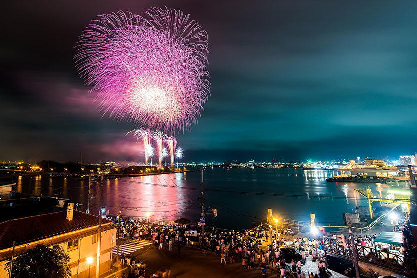 函館の花火