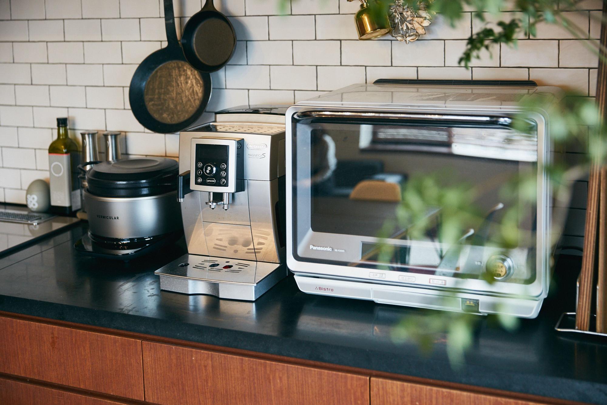 タイル貼りのおしゃれなキッチン