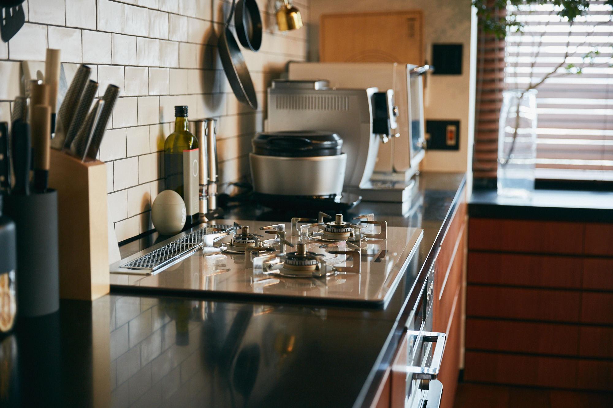 本格的なキッチンをリノベーション