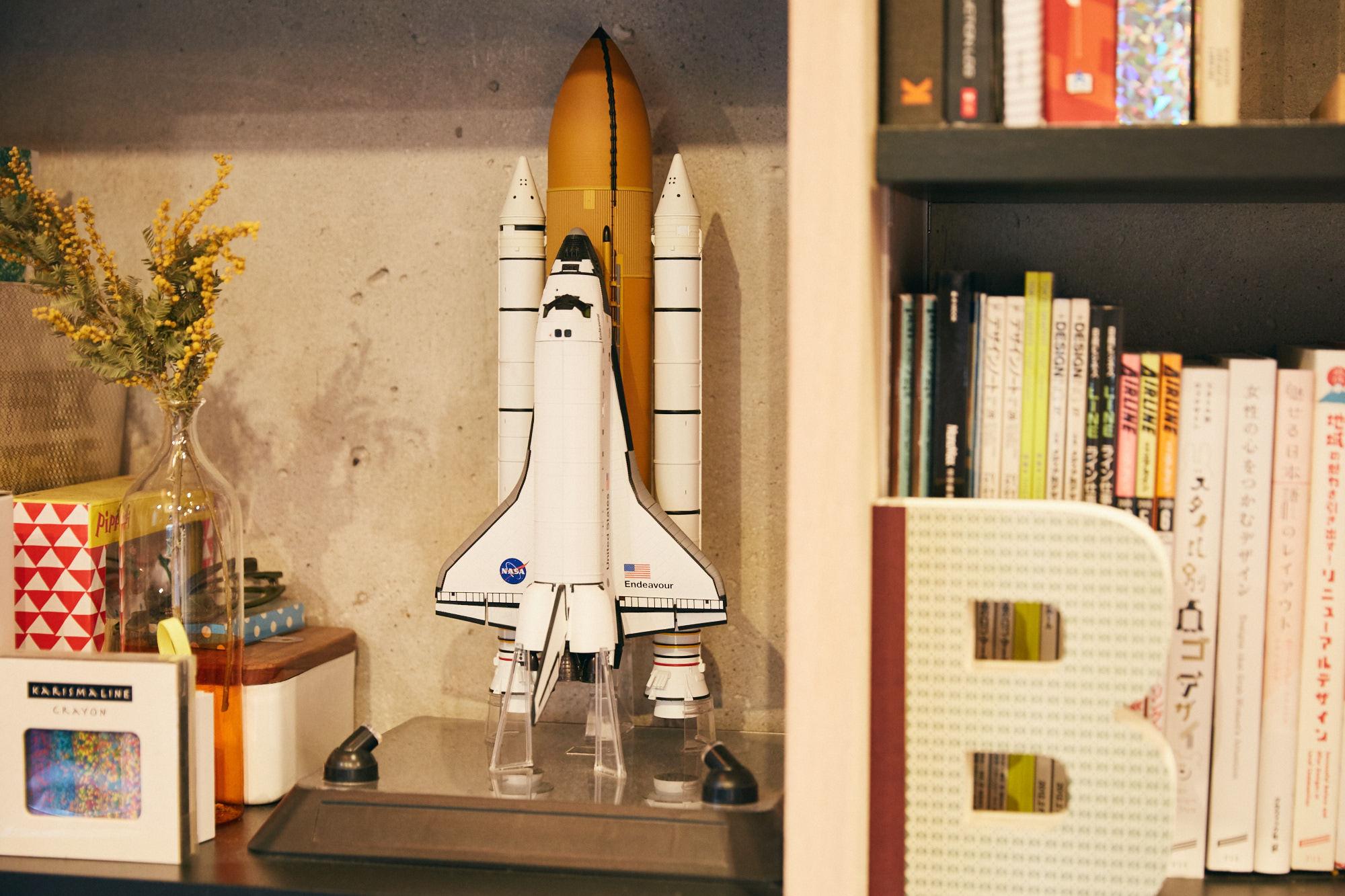 スペースシャトルのプラモデル