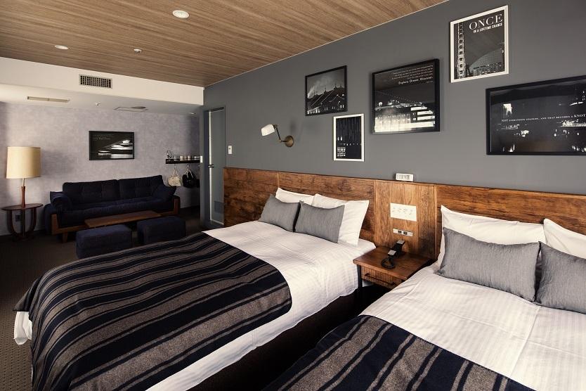 客室にはACNE Funitureのアメリカンヴィンテージからインスピレーションを得た魅力的な家具が並ぶ