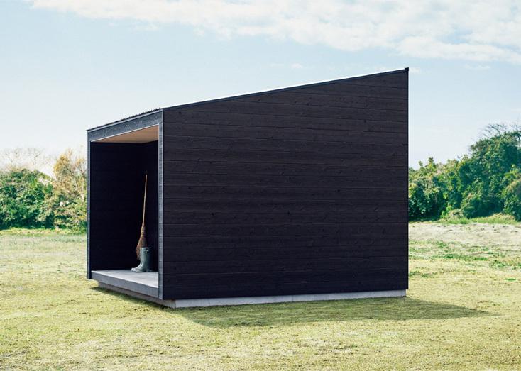 無印良品の小屋の外観