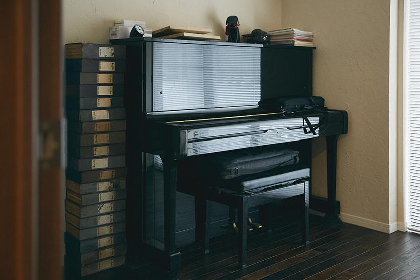 ピアノやフルートを練習する音楽室