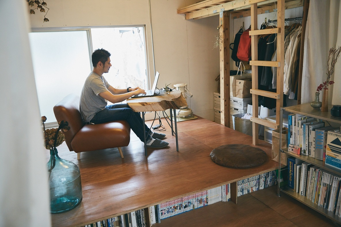 DIYで収納を作った部屋