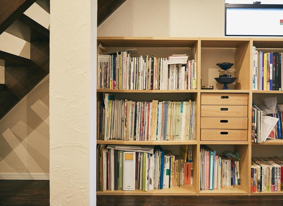 無印良品の棚を置いた書斎