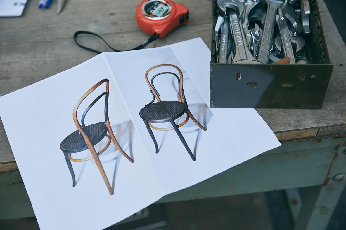 椅子のリペアデザイン