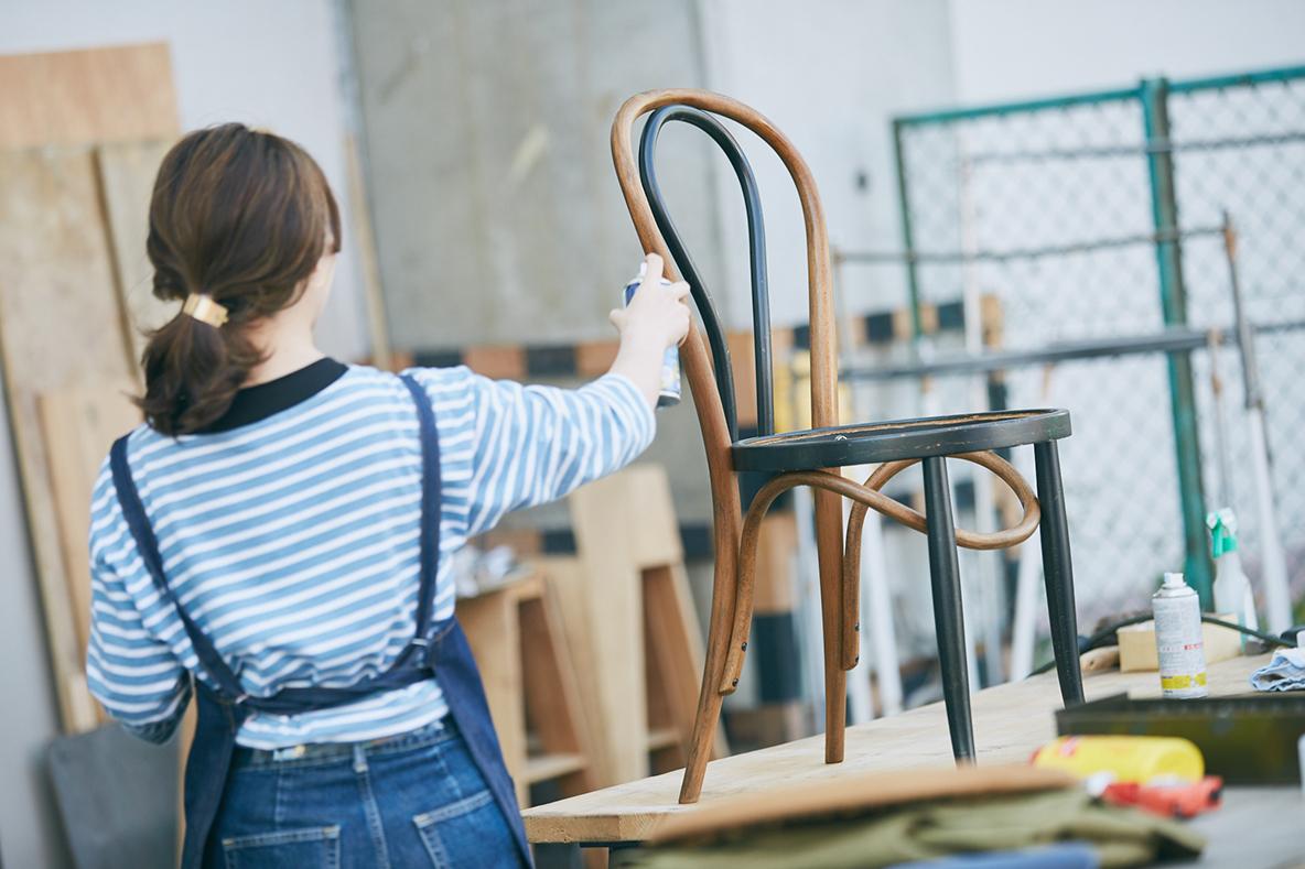 椅子DIYの仕上げ