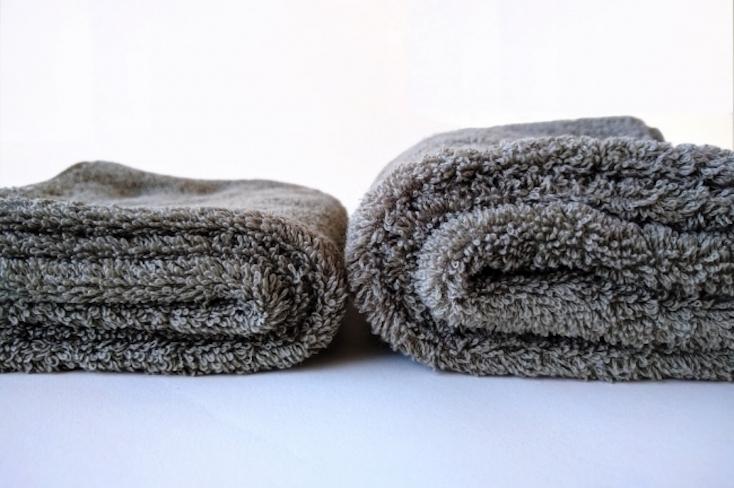 世界7ヵ国で特許取得した技術使用の撚糸「Spongeee Cotton100(スポンジーコットン100)」が使用されている