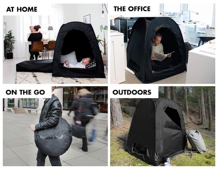 ポッドがあれば自宅でもオフィスでも、簡単に自分だけのくつろぎスペースが作れる