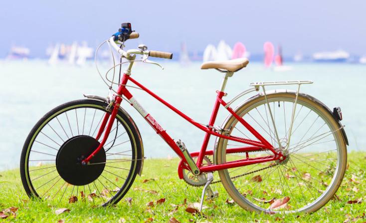 たったの60秒で自転車を電動自転車にすることが可能