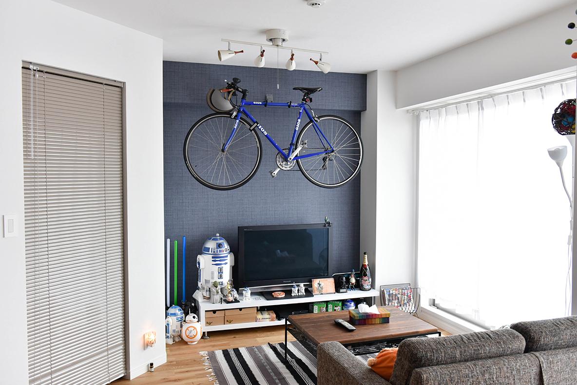リビングにGIOSの自転車を設置