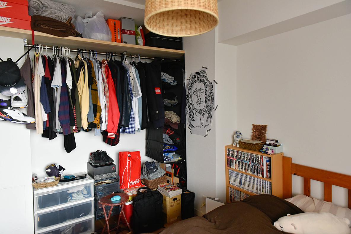便利な寝室の収納