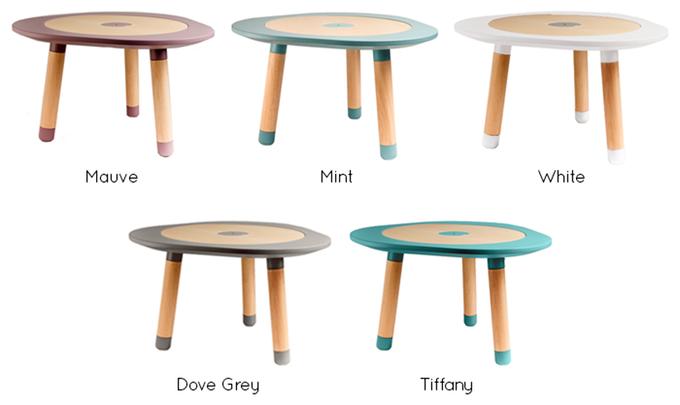 色は「ふじ色」「ミント」「白」「グレー」「ティファニー」の5色