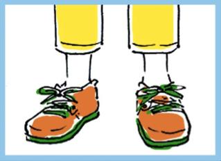 ビルケンの革靴。イラストレーター・新里碧さんによる連載「東京ボーイズ図鑑」では、「◯◯に住んでる系男子」にエンカウントした際の傾向と対策を紹介。第1回は、下街の情緒あふれる谷根 千太郎くん。