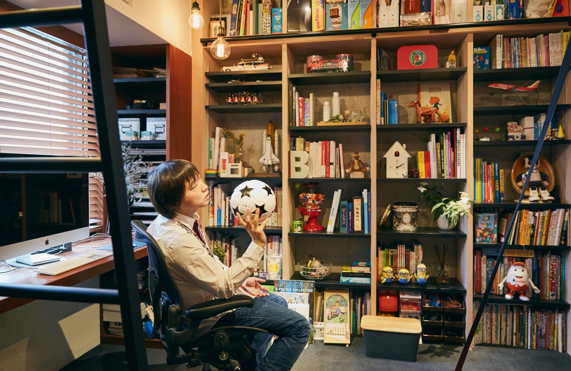 子どもと過ごす書斎