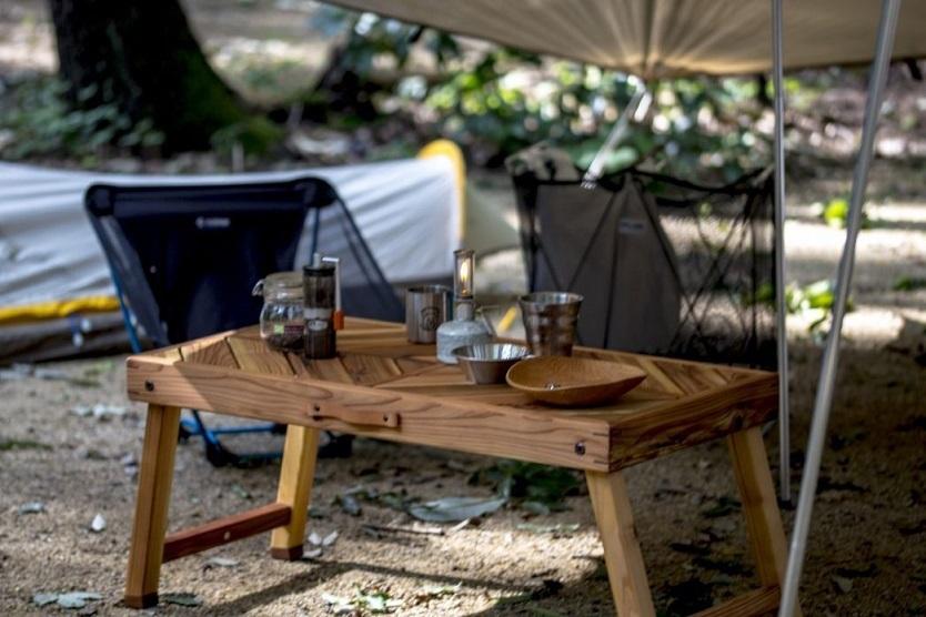 Folding Wooden Table「Kokaze」