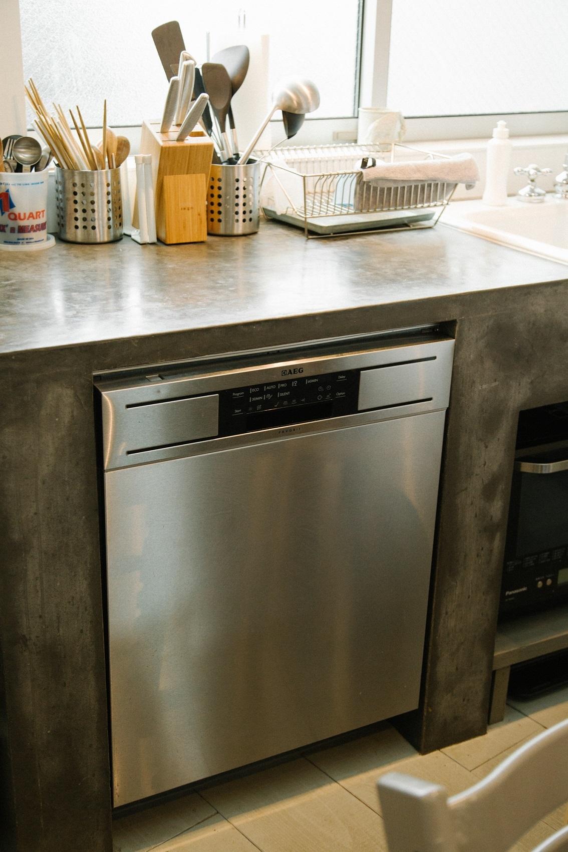 鍋もフライパンも入る大容量の食器洗い機